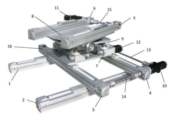 Manipulateur XYZ modules simples - Kinetic Systems